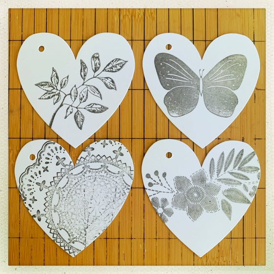 Image of mini heart gift tags