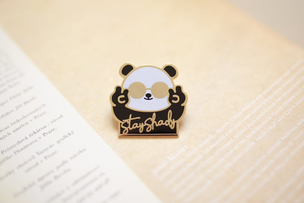 Image of Stay Shady Panda Enamel Pin