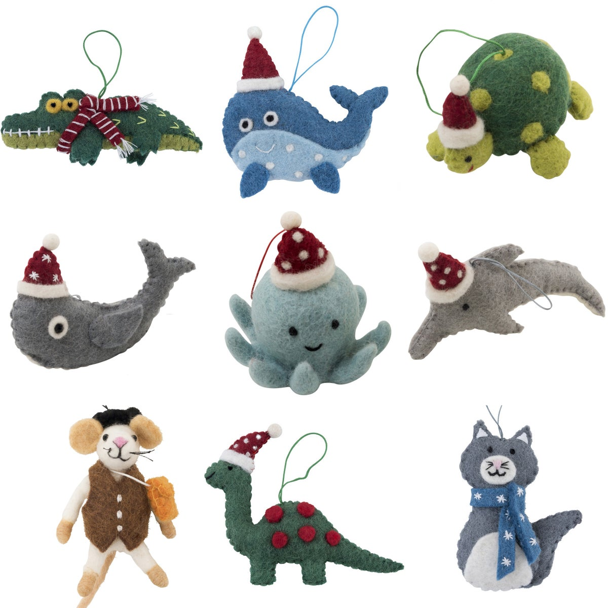 Image of Fairtrade Felt Christmas Decorations 2