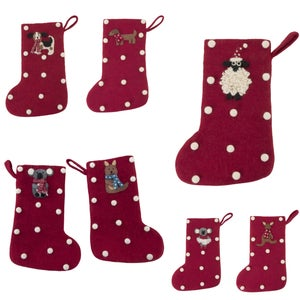 Image of Handmade Felt Christmas Stockings