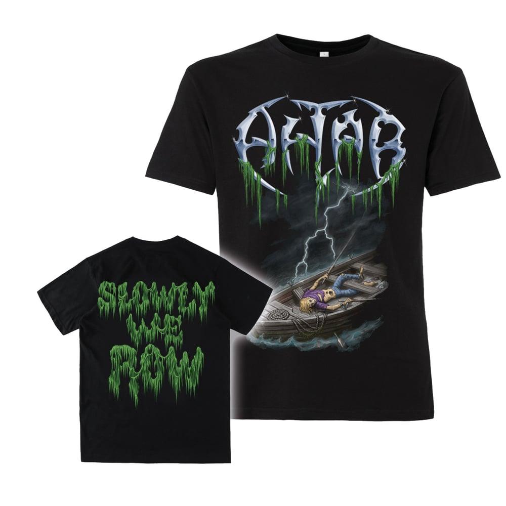 """Image of Shirt """"slowly we row"""""""