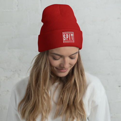 Image of Box Logo Beanie (Red)