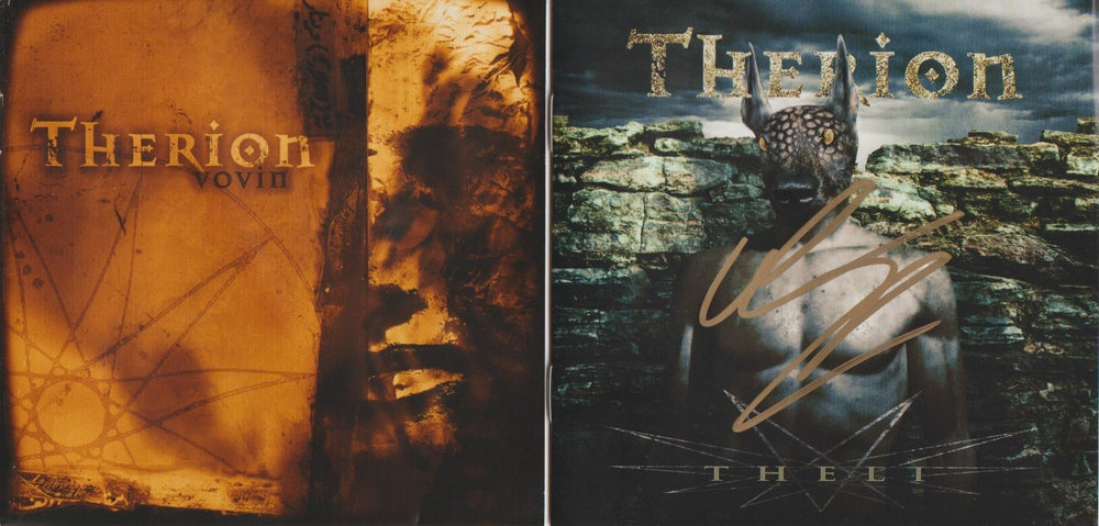 Image of THERION - Theli / Vovin - 2CD Box Autographed ONE IN STOCK!!!