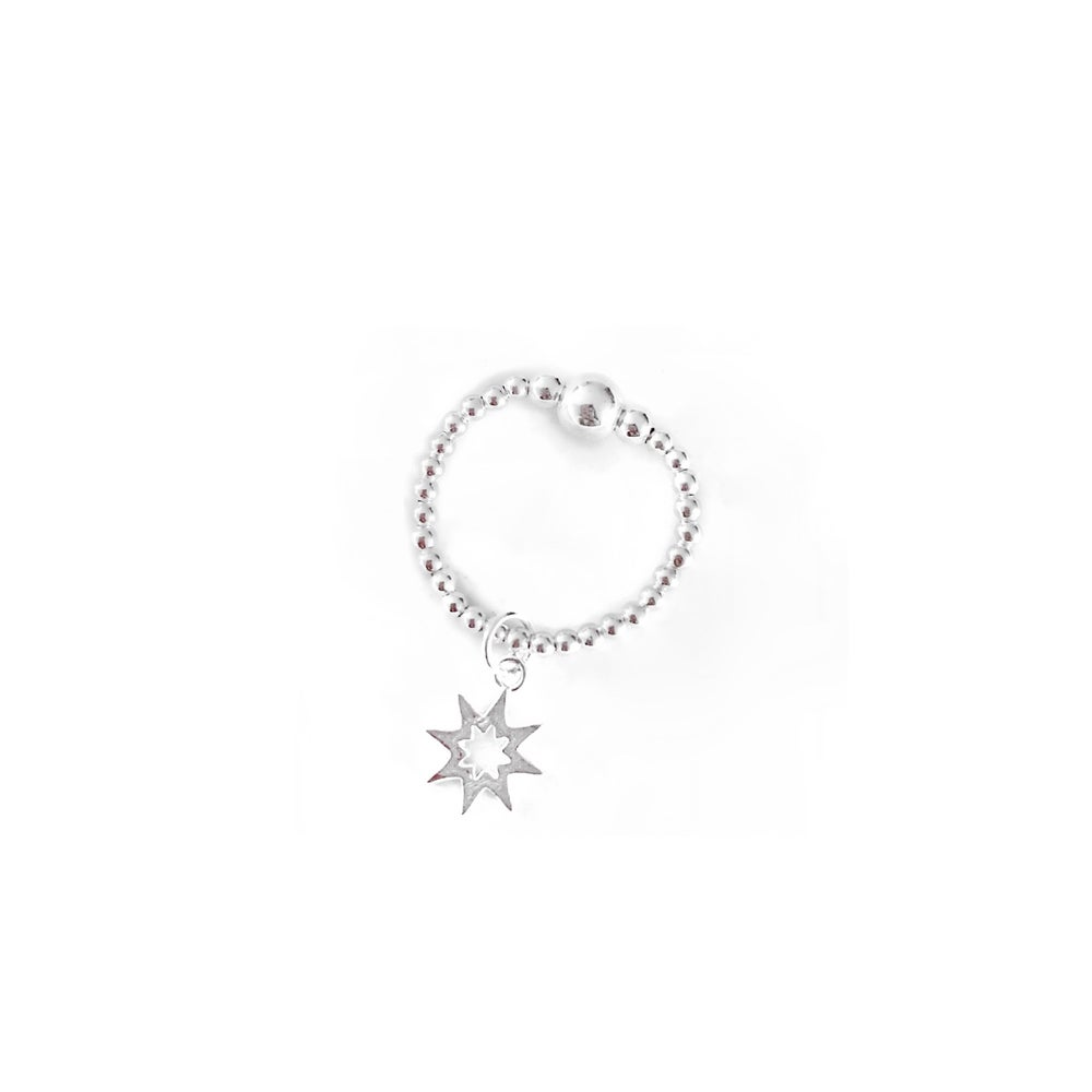 Image of Sterling Silver Sun Charm Ring