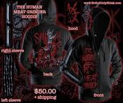 Image of HUMAN MEAT GRINDER zip up hoodie