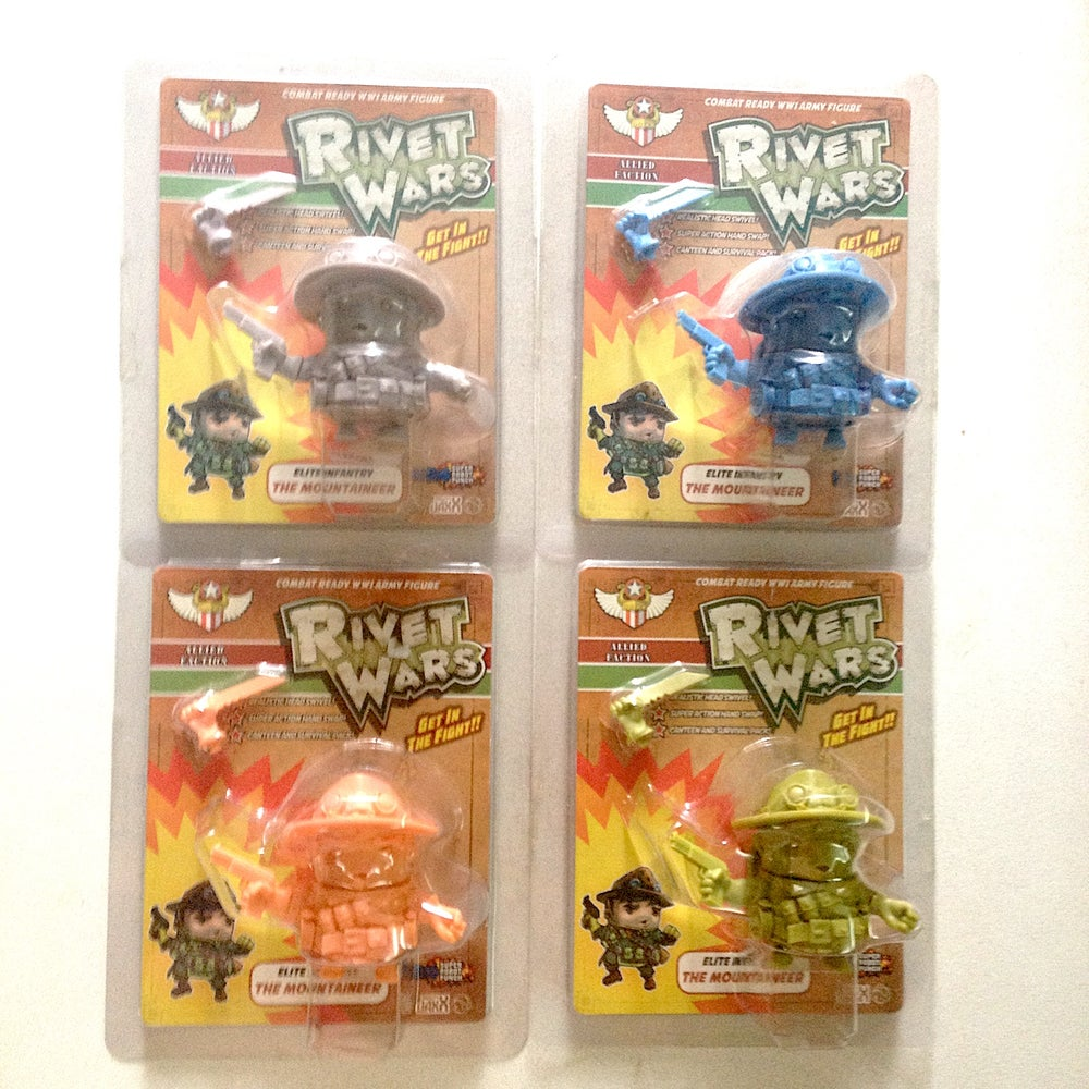 Image of RIVET WARS: THE MOUNTAINEER (Set of 4) by Mighty Jaxx
