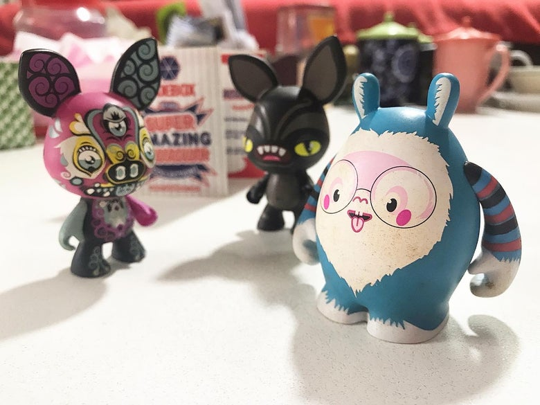 Image of DUDEBOX Mini Figures 3pcs (from The Super Amazing Spectacular Collection)
