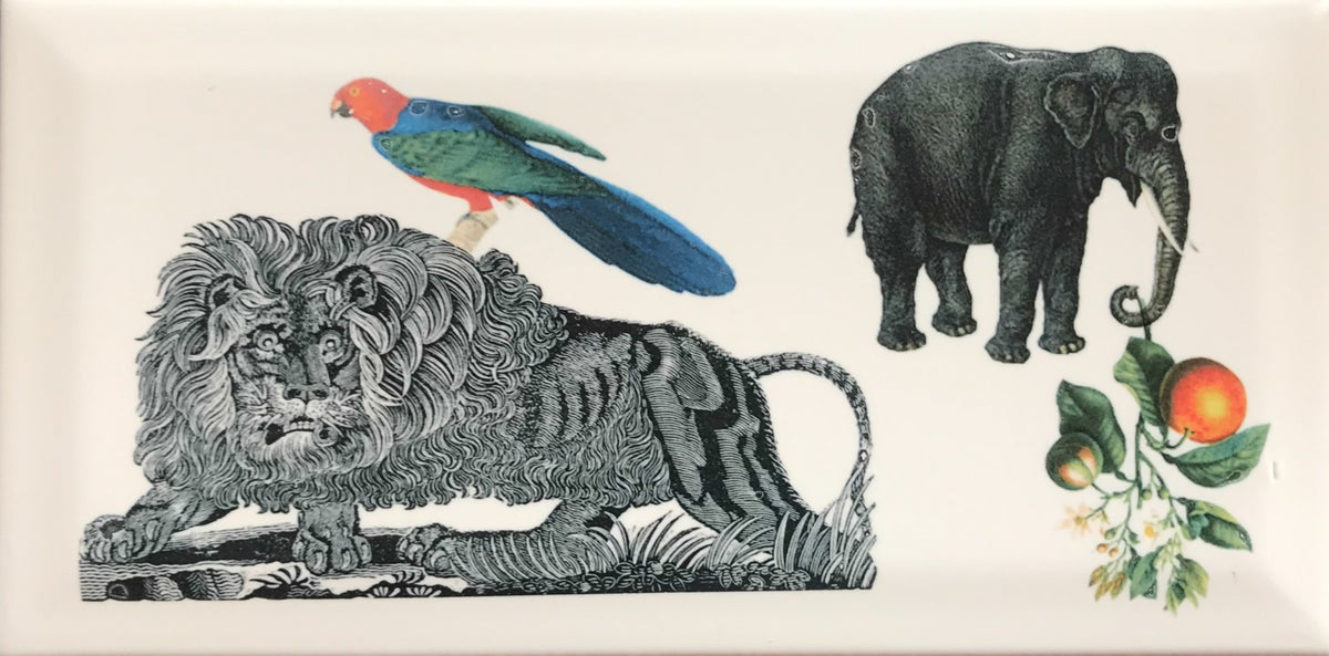 Lion and Parrot Tile