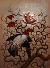 """Bird in roses"" Fine Art Print"