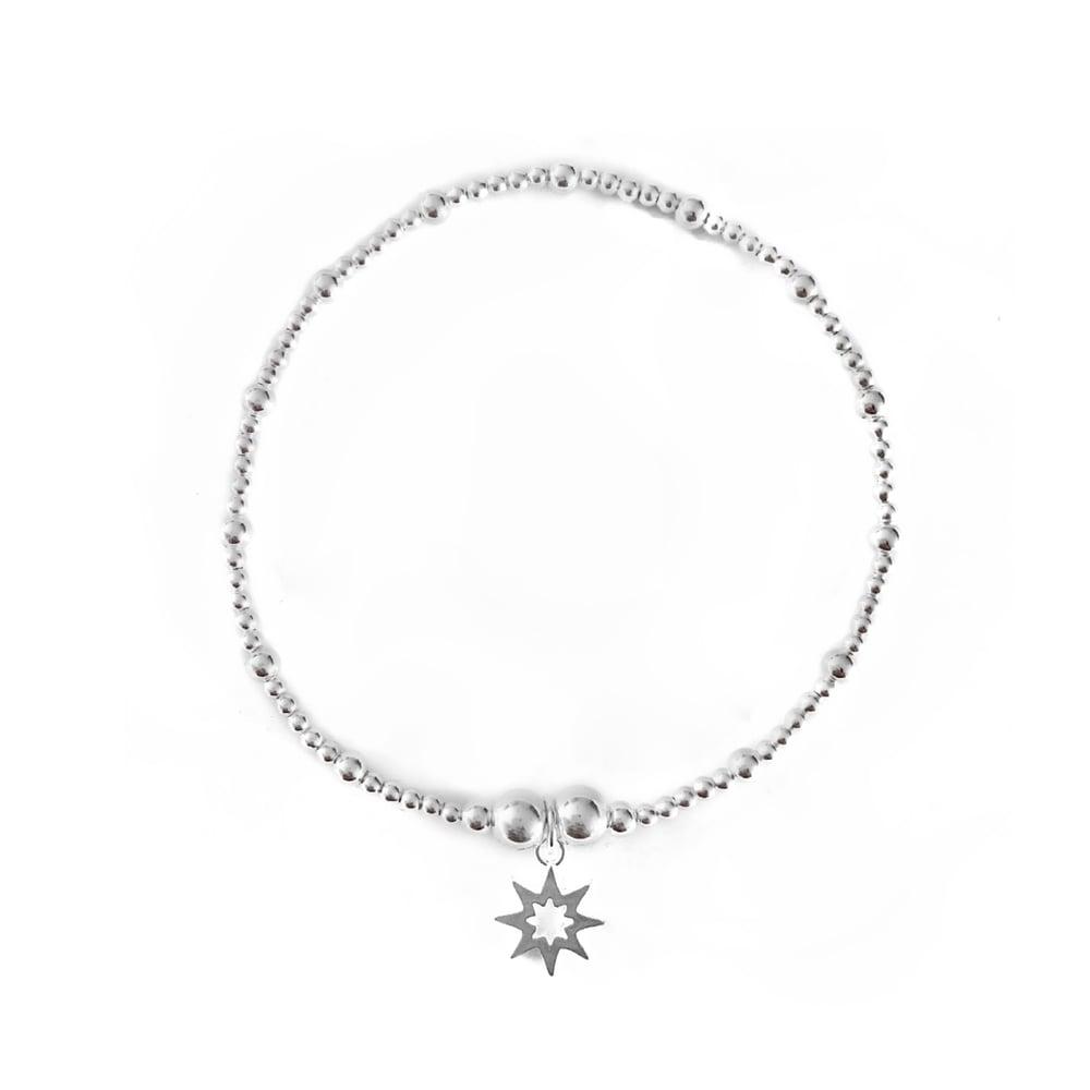 Image of Sterling Silver Sun Charm Bracelet
