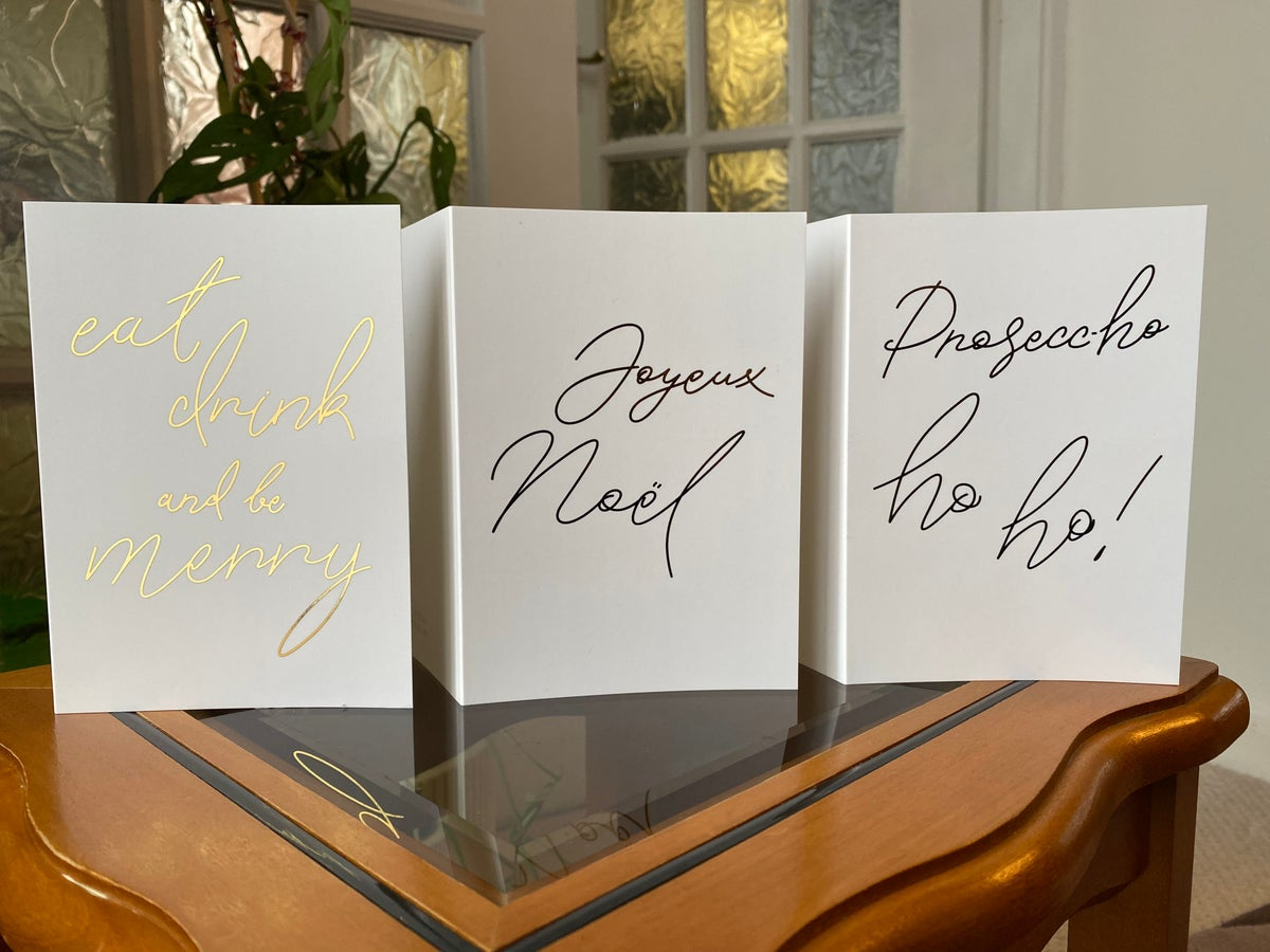 Image of Calligraphy Christmas Cards