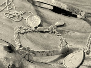 Image of I carry your heart with me Cuff Bracelet