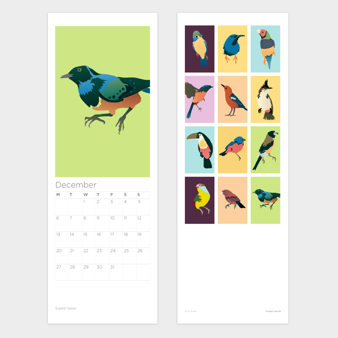 Image of New! Birds Calendar 2021 (Includes Free UK Shipping!)