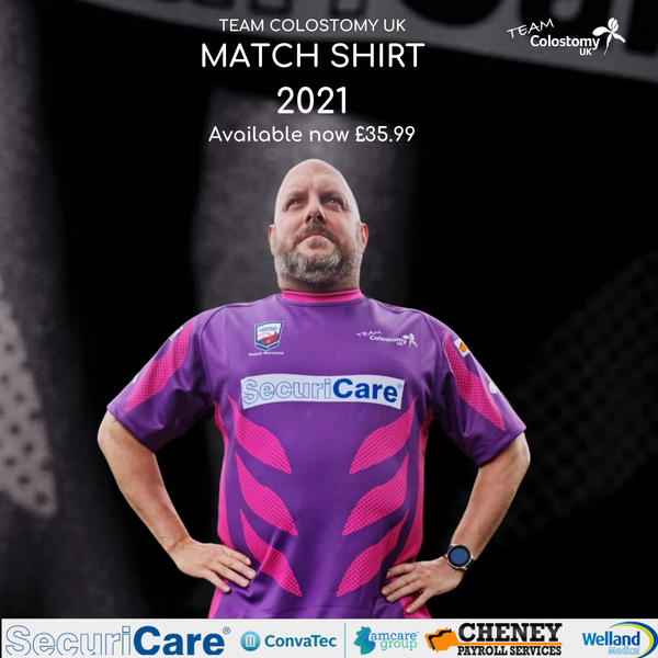 Image of Team Colostomy UK Rugby League 2021 Match shirt