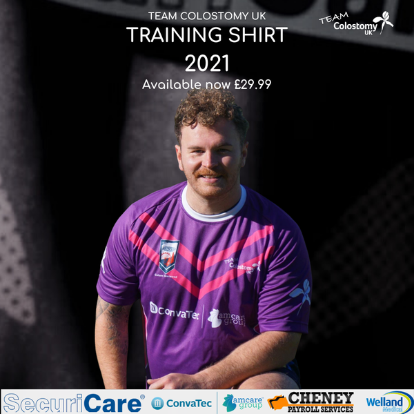 Image of Team Colostomy UK 2021 Rugby League Training shirt
