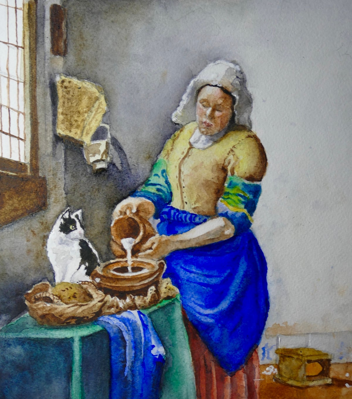 Image of 'The Cat That Got The Cream (Eventually)' - giclee print