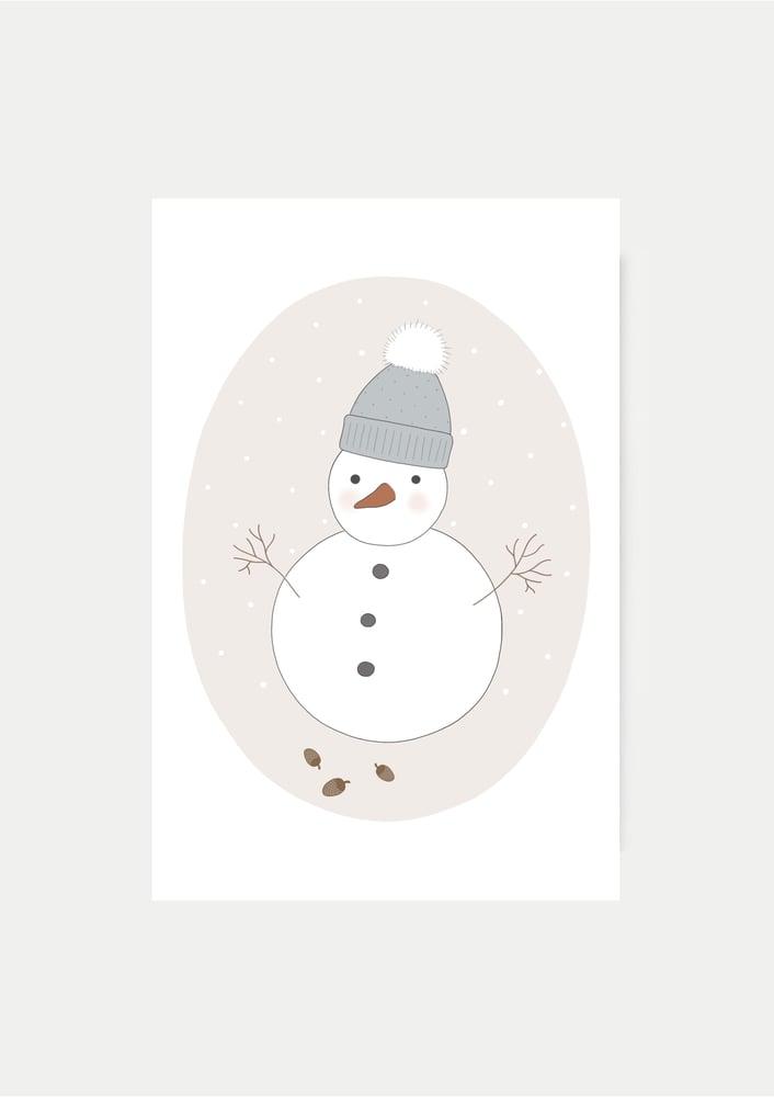 Image of Carte Mon bonhomme de neige