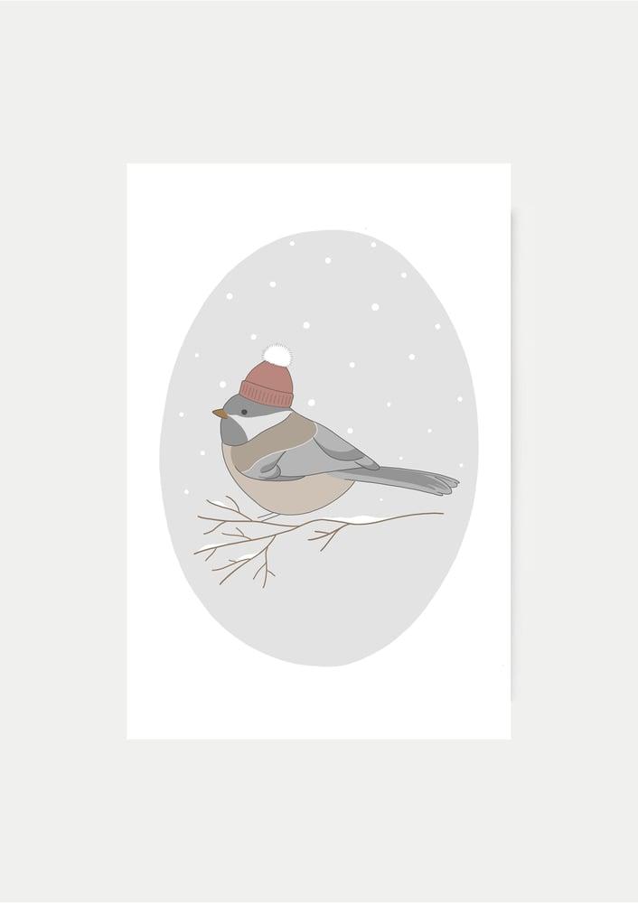Image of Carte Oiseau d'hiver