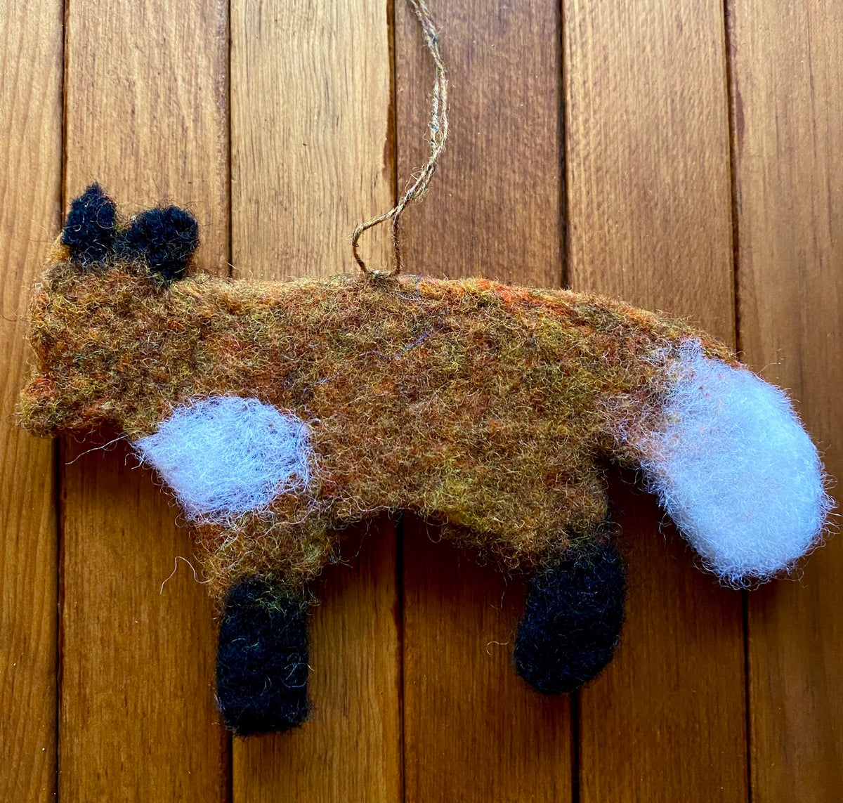 Image of Needle Felted Fox Ornament