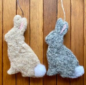 Image of Needle Felted Rabbit Ornament