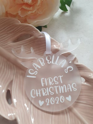 Image of Baby's first Christmas Reindeer Bauble