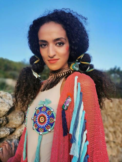 Image of Blue Coral Kimono