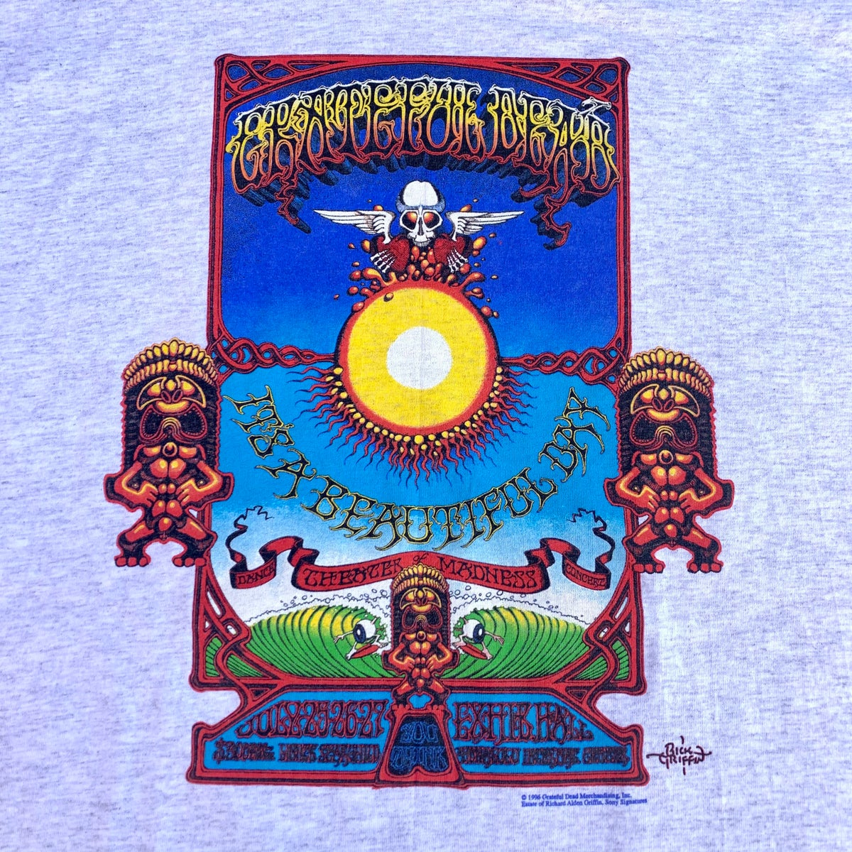 Original Vintage Grateful Dead 1990's Rick Griffin Tee!!! X-Large