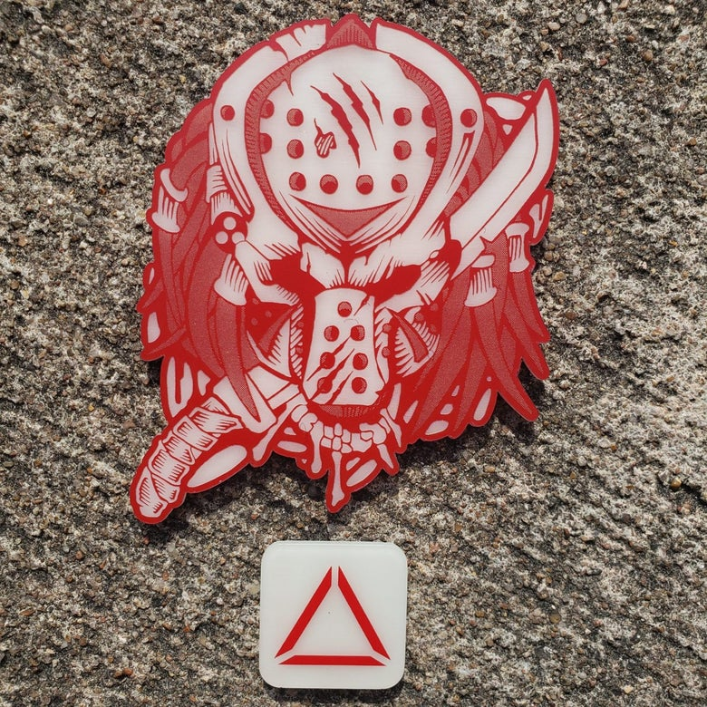 Image of LIMITED AF! Apex Slasher (RED ACRYILIC GLOW) (OSVG) Collaboration)