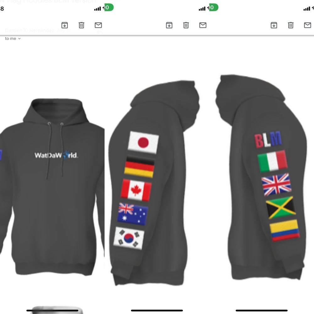 Image of 2020 WATDAWORLD Pullover Embroidered Hoodie