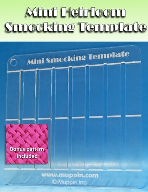 Mini Heirloom Smocking Template