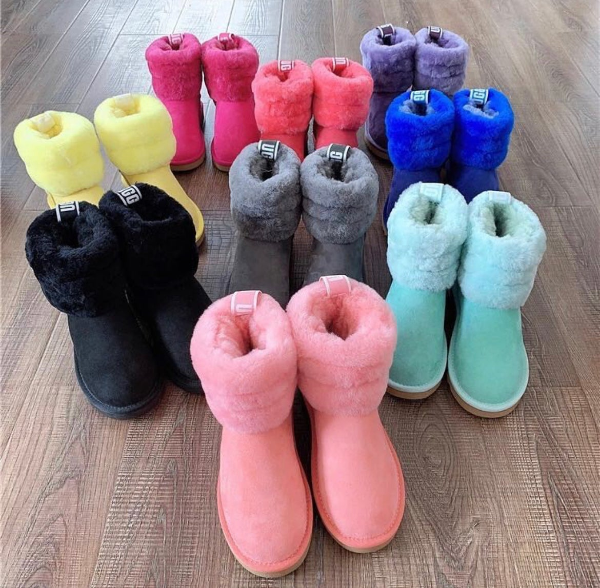 Image of Custom Colored Fluff Uggs