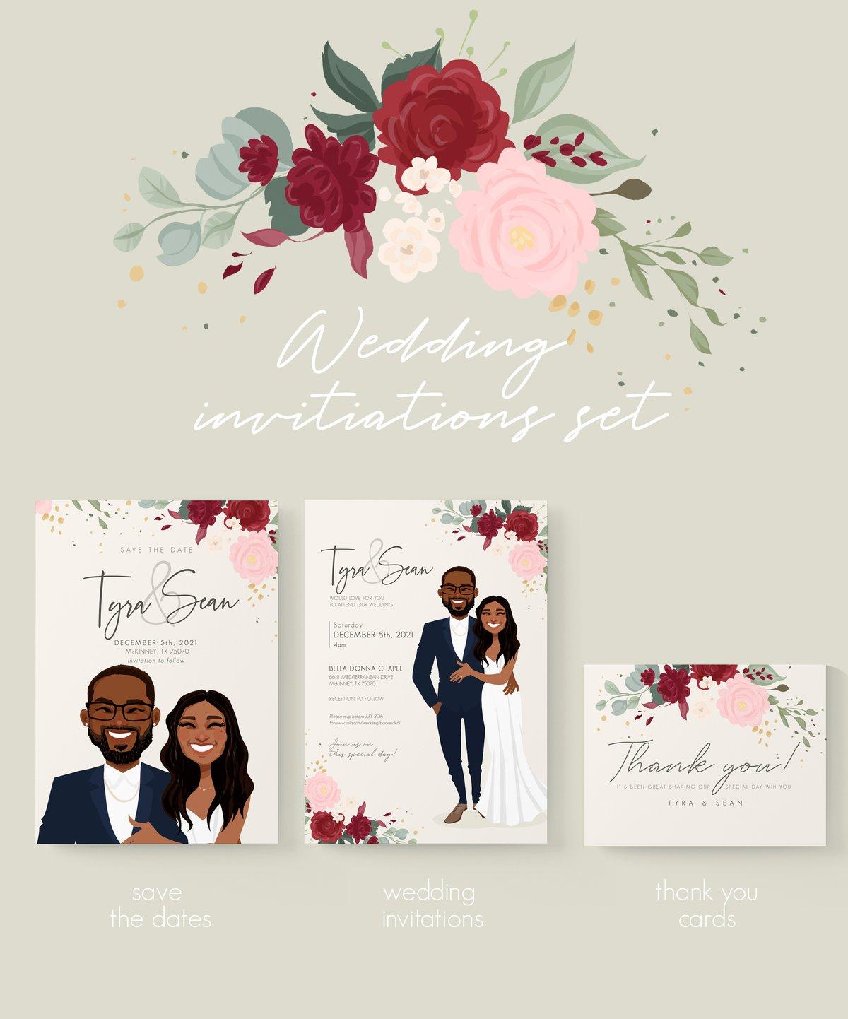Image of Wedding invitations set