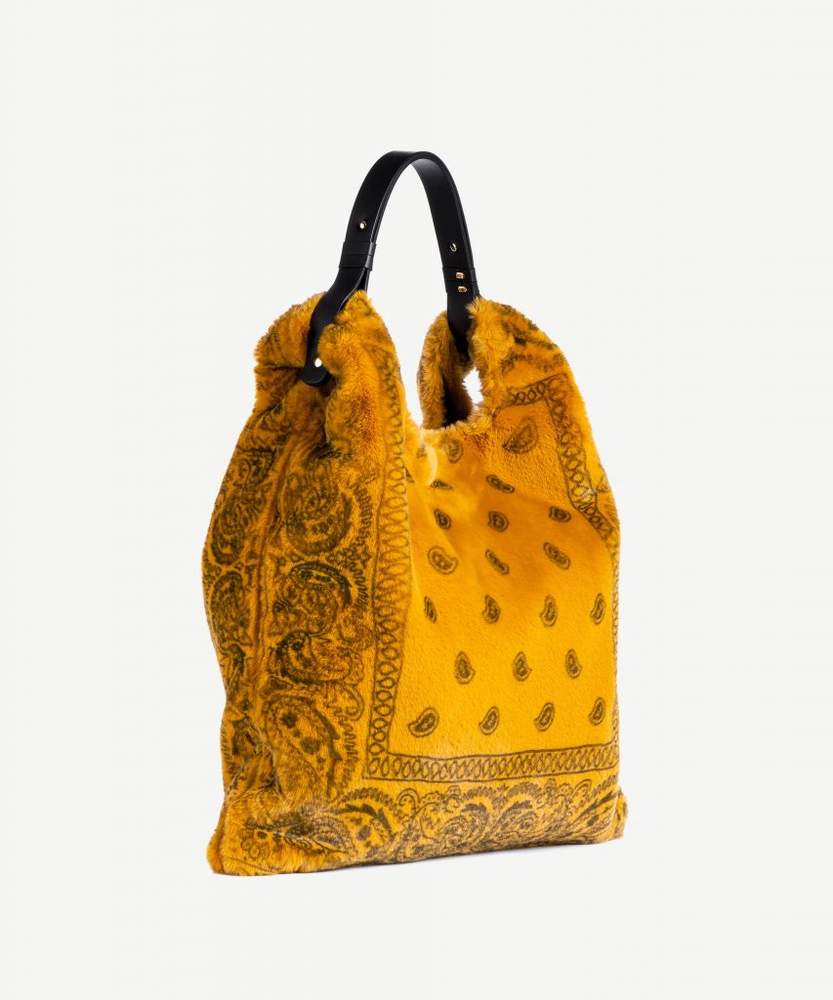 Image of Bandana Faux Fur Bag (multiple colors)