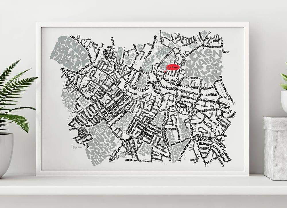 Image of Beckenham, Penge & Anerley SE20-BR3 – SE London Type Map