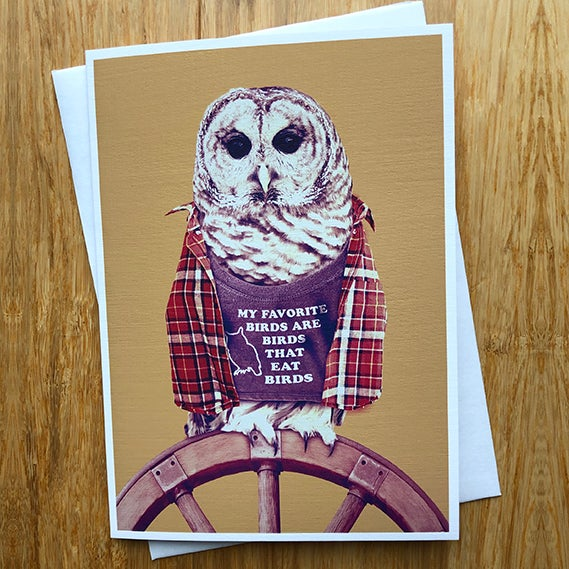 Image of Barred Owl - Greeting Card - By David Holub
