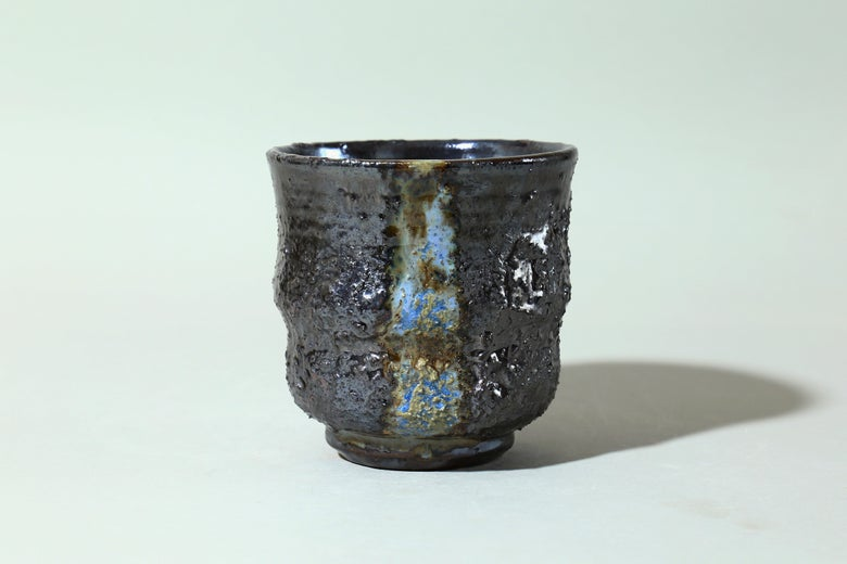 Image of Blue thorn double waist chawan