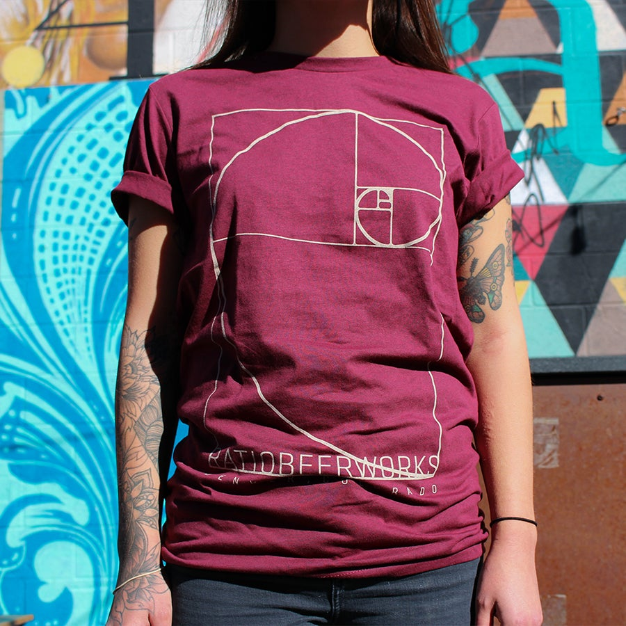 Image of Unisex Golden Ratio Red T