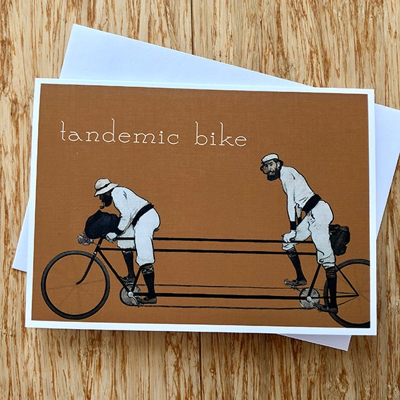 Image of Tandemic Bike - Greeting Card - By David Holub