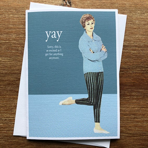 Image of Yay - Greeting Card - By David Holub