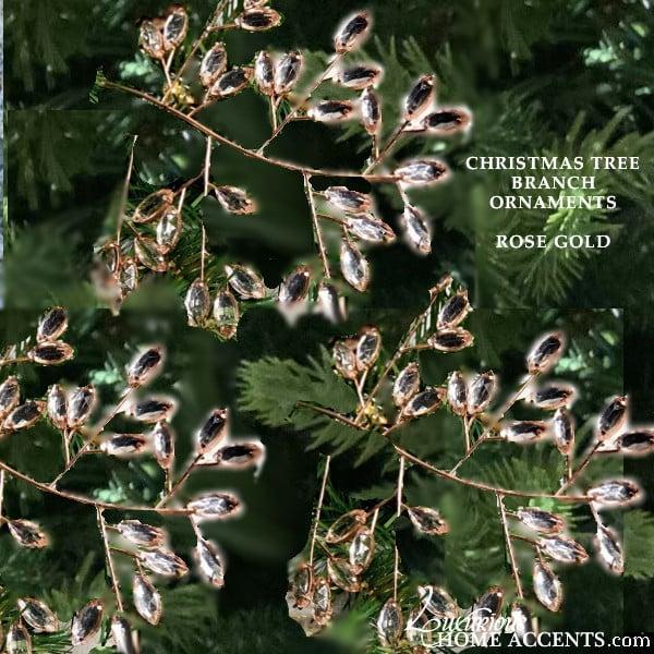 Image of Crystal Christmas Tree Branch Ornament Spray