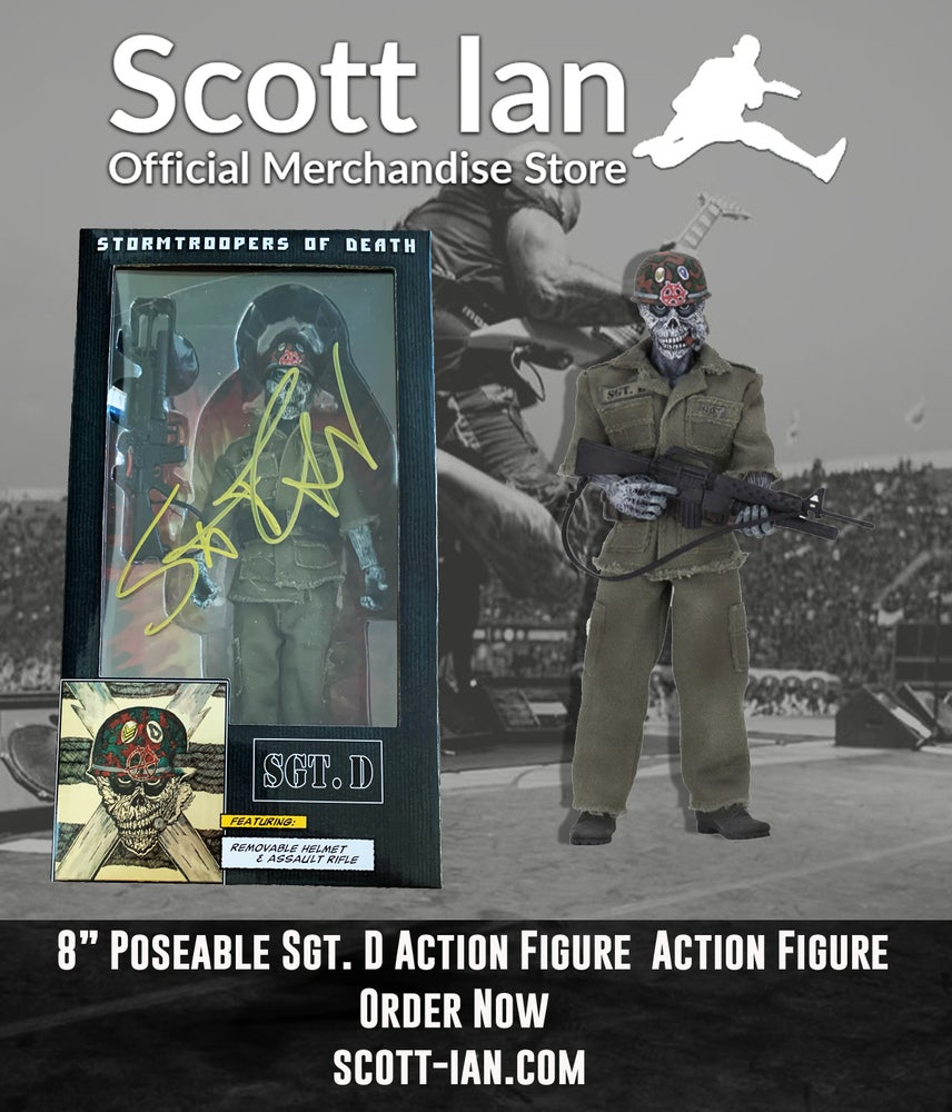"""Image of Sgt D 8"""" Action Figure - SIGNED BOX! VERY LIMITED QTY AVAILBLE"""