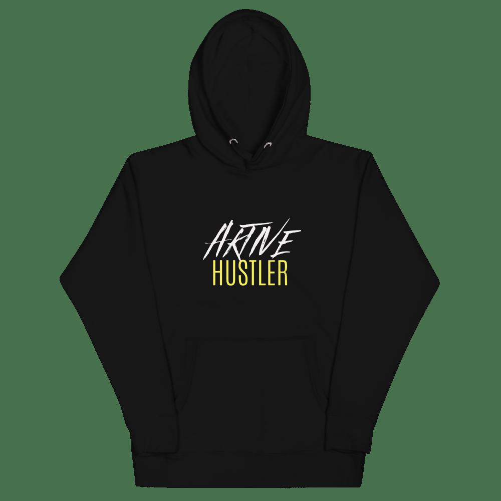 Image of Aktive Hustler Premium Hoodie - Black/Yellow