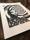 Sun Ra. Space is the Place. Hand Made. Original A4 linocut print.