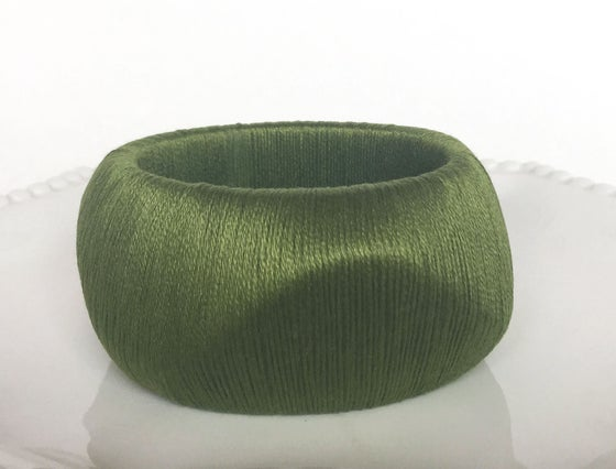 Image of Hand Wrapped Bangles | Curvy | Various Colors