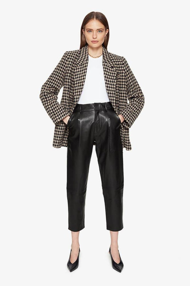 Image of Anine Bing Kaia Blazer in Houndstooth