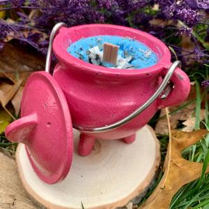 Peppermint Healing 4oz Pink Cauldron Candle