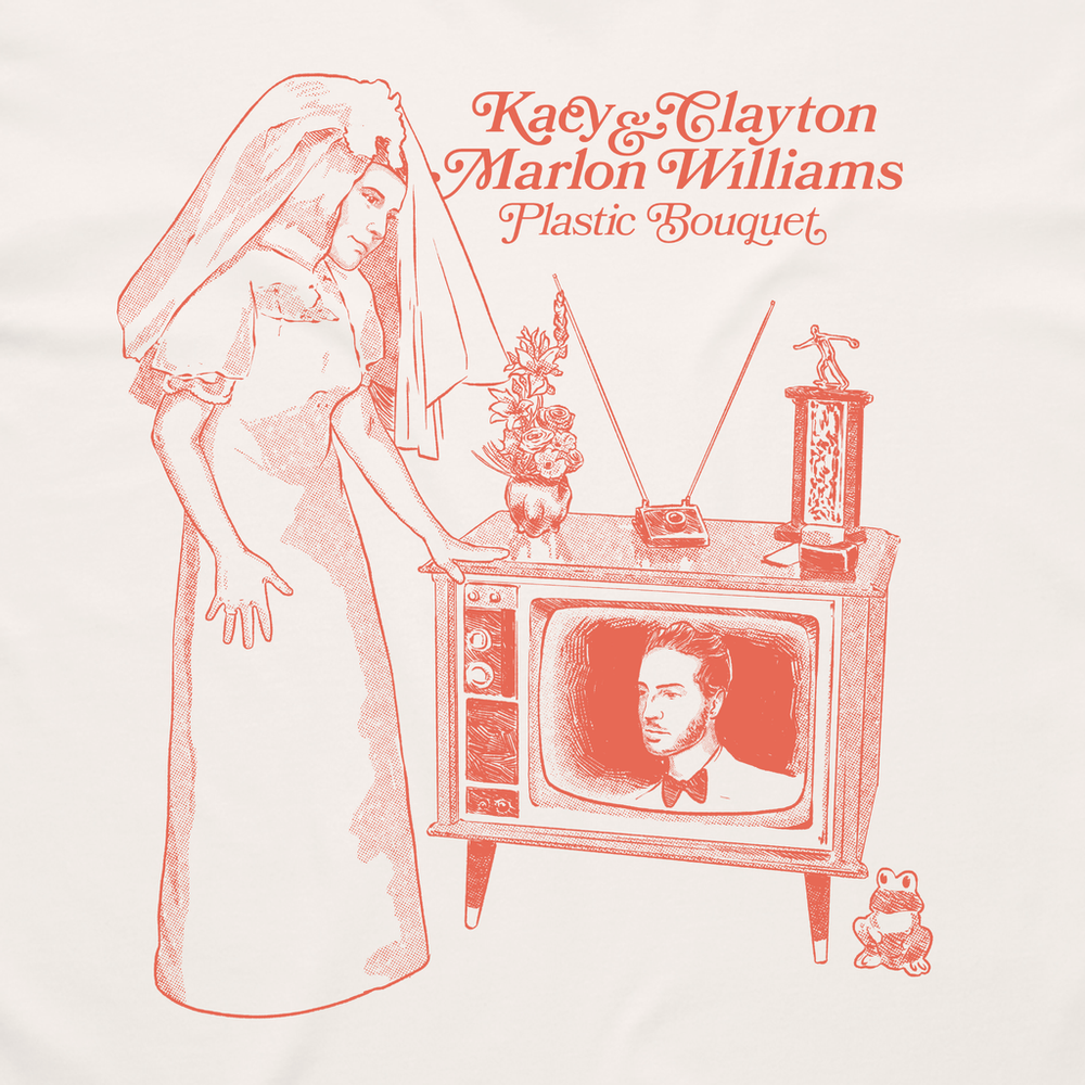 Kacy & Clayton and Marlon Williams - Plastic Bouquet T-Shirt