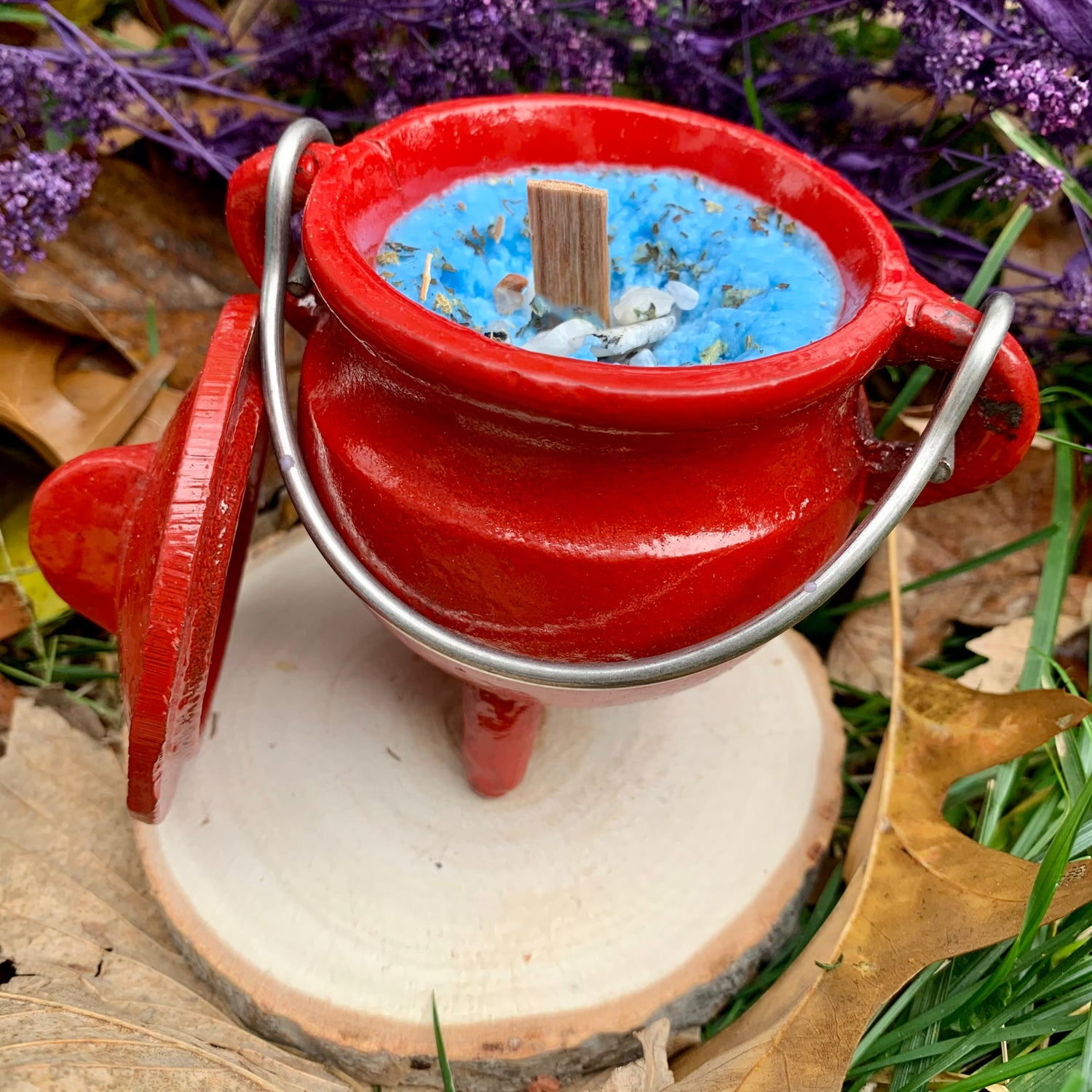 Peppermint Healing 4oz Red Cauldron Candle