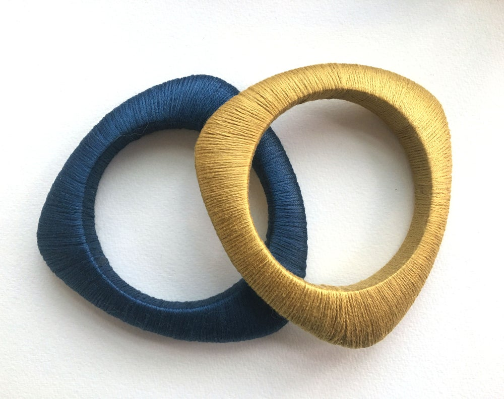 Image of Hand Wrapped Bangles | Thin Triangle | Various Colors