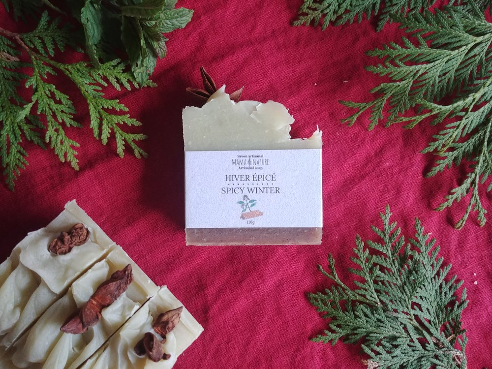 Image of Savon artisanal Hiver épicé - Spicy winter artisanal soap